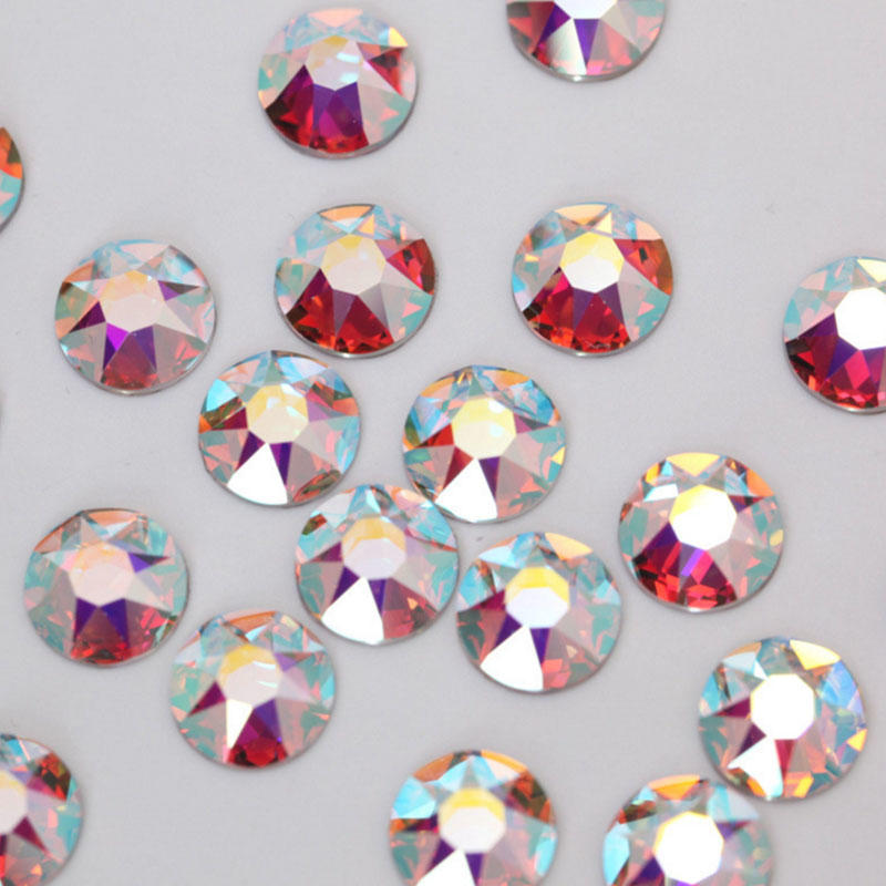 loose flat back ab crystal 16 cutting facets  rhinestones making for garment accessory