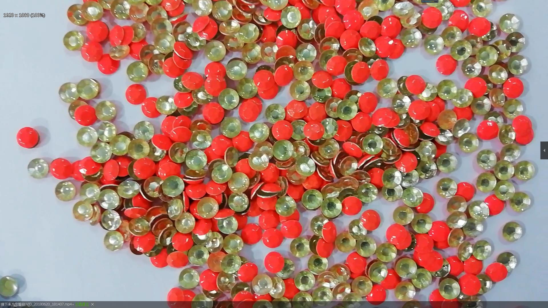 Hot fix neon color rhinestuds for denim clothes decoration