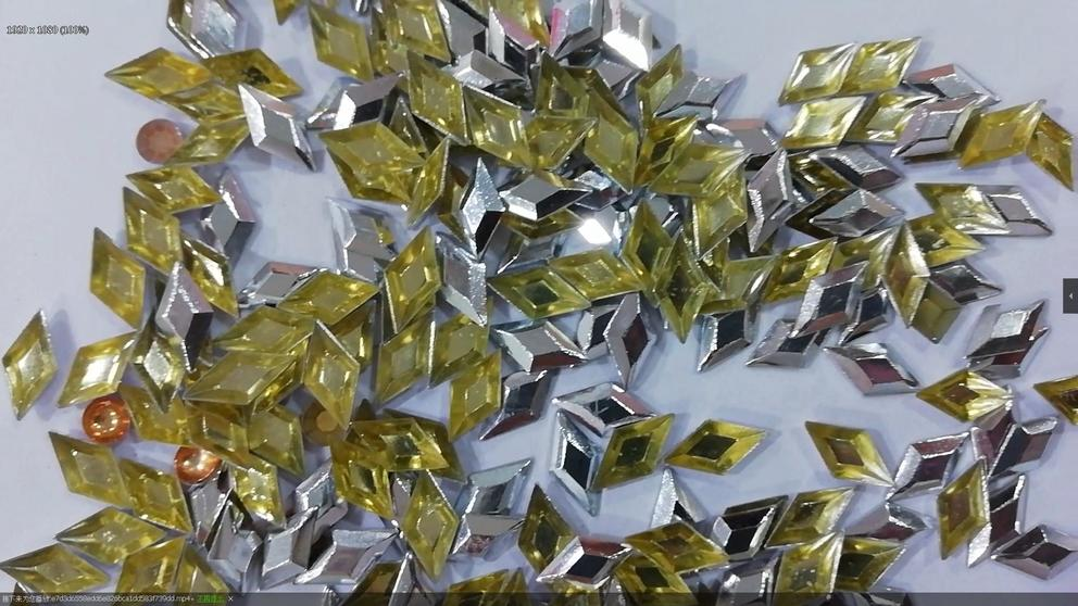 Silver Color Square Shape Hot Fix Studs Shiny For Denim 6*6 8*8 6A Rhine studs Supplier