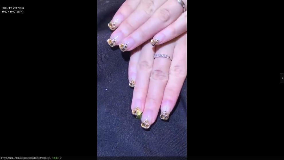 rhinestone nail art2