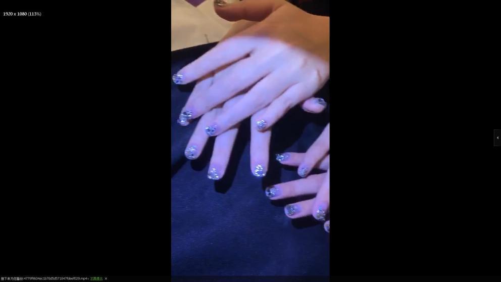 rhinestone nail art3