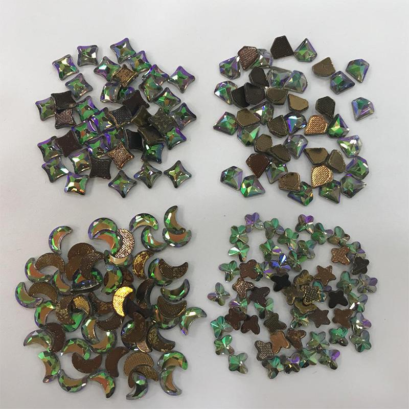 JP STRASS flat back Skull/Star/Moon/Flower/S shape hot fix rhinestones for garment accessories