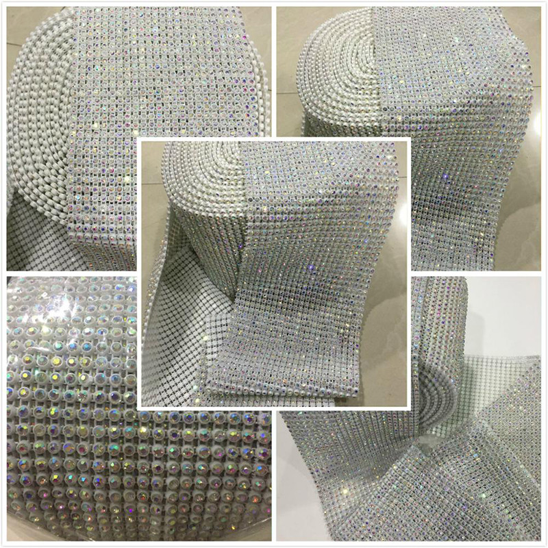 Jpstrass-Professional Rhinestone Mesh Sheet Diamond Mesh Wrap-1
