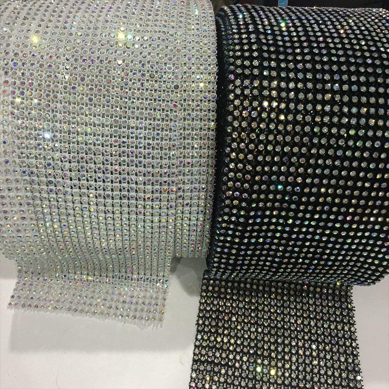 JP STRASS 24 rows Elastic rhinestone mesh trimming wholesale for Clothing