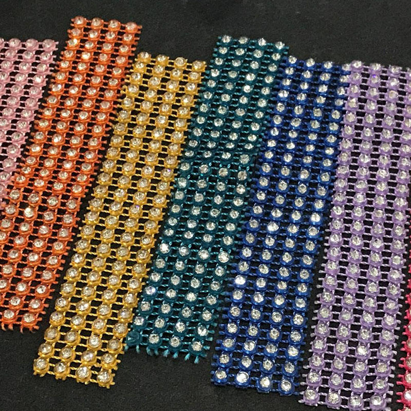 JP rhinestones popular elastic style mesh trimming for the DIY decoration