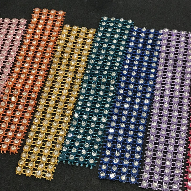Jpstrass-Jp Strass Plastic Rhinestone Mesh Trimming With Stretch Base-3