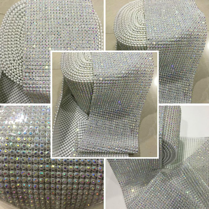Jpstrass-Jp Strass Plastic Rhinestone Mesh Trimming With Stretch Base-7