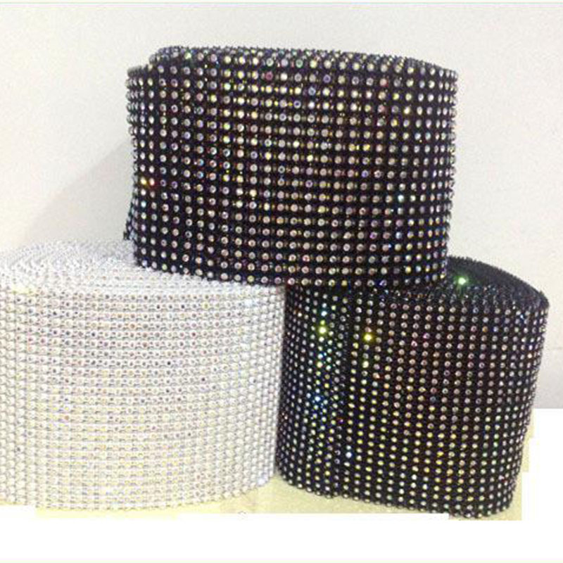 Jpstrass-Jp Strass Plastic Rhinestone Mesh Trimming With Stretch Base-8