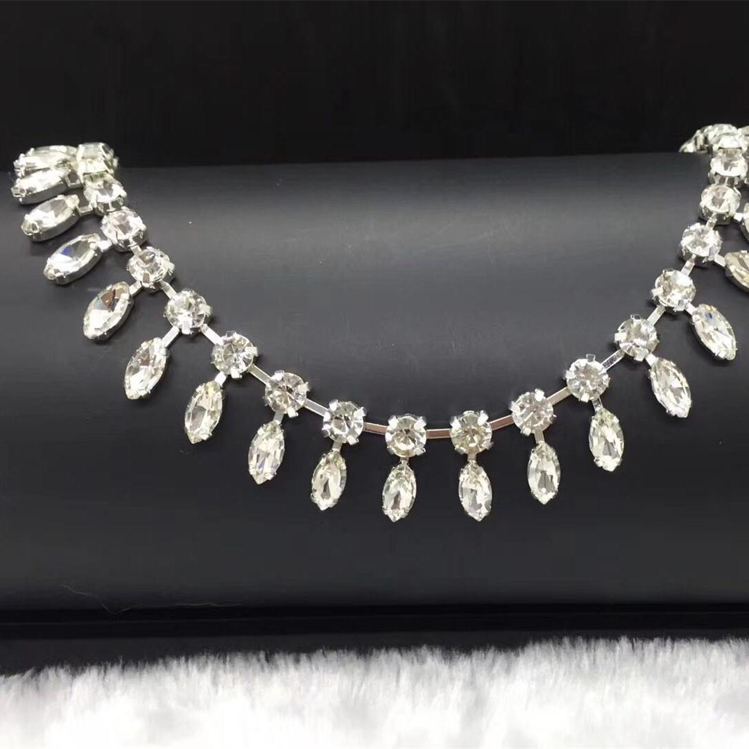 Jpstrass-High-quality Jpstrass Flat Back Sew On Crystal Glass Beads Teardrop-7