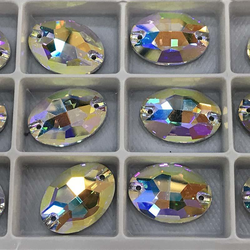 JP STRASS flat back sew on crystal glass beads teardrop/oval/square/triangle for jewelry