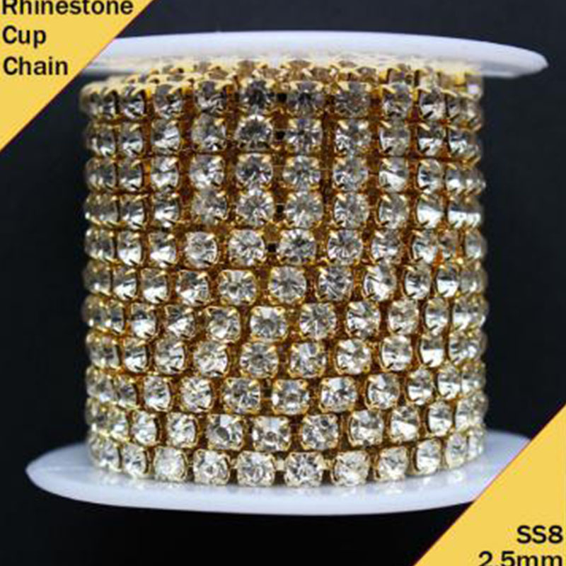 Jpstrass-Fancy Crystal Cup Chain Rhinestone Trimming For Crafts Wholesale-3