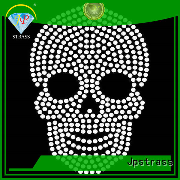 Jpstrass quality hot fix rhinestone patterns manufacturer for party
