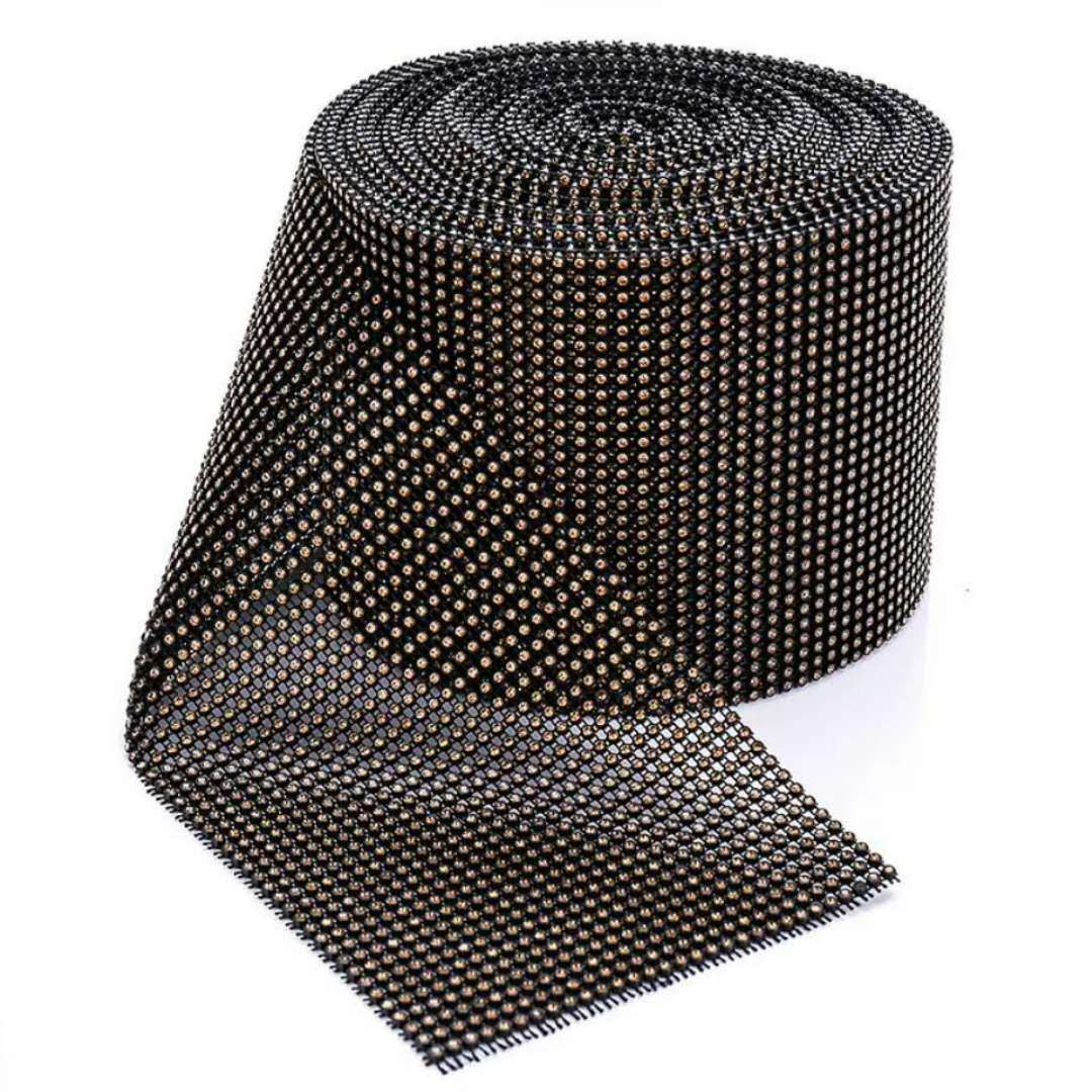 18 rows and 24 rows white and black base plastic rhinestone trimming 10 yards each roll wholesale supplier
