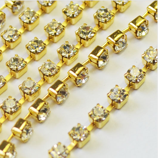 Custom crystal cup chain rhinestone trimming for clothing decoration wholesale supplier