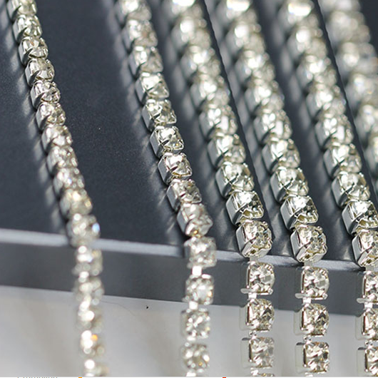 Fancy crystal cup chain rhinestone trimming for crafts wholesale decoration supplier