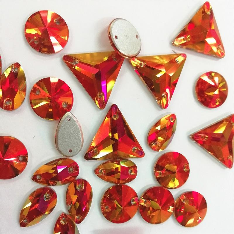JP STRASS sew on flat back glass rhinestones for the jewelry decorative