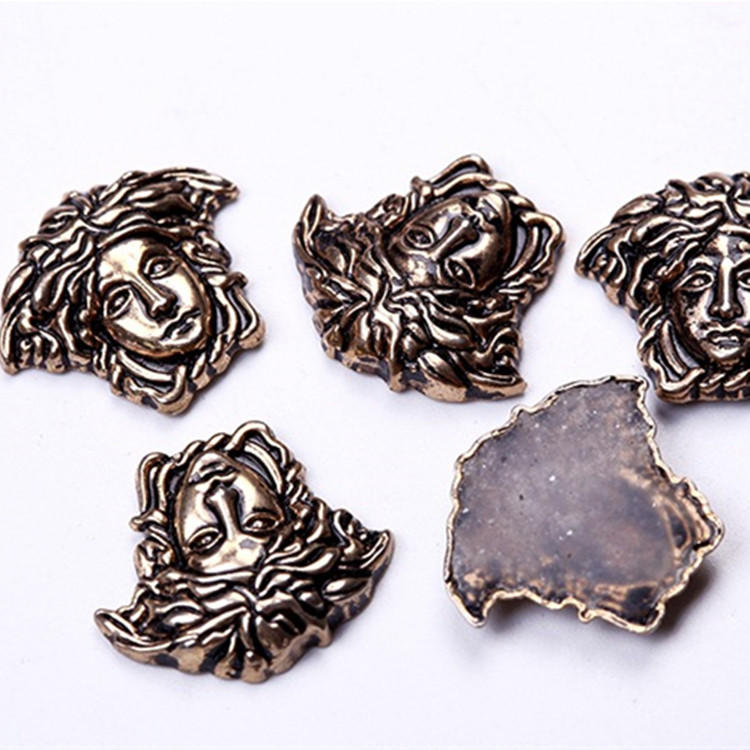 hot fix Medusa studs iron on alloy studs for clothing decoration