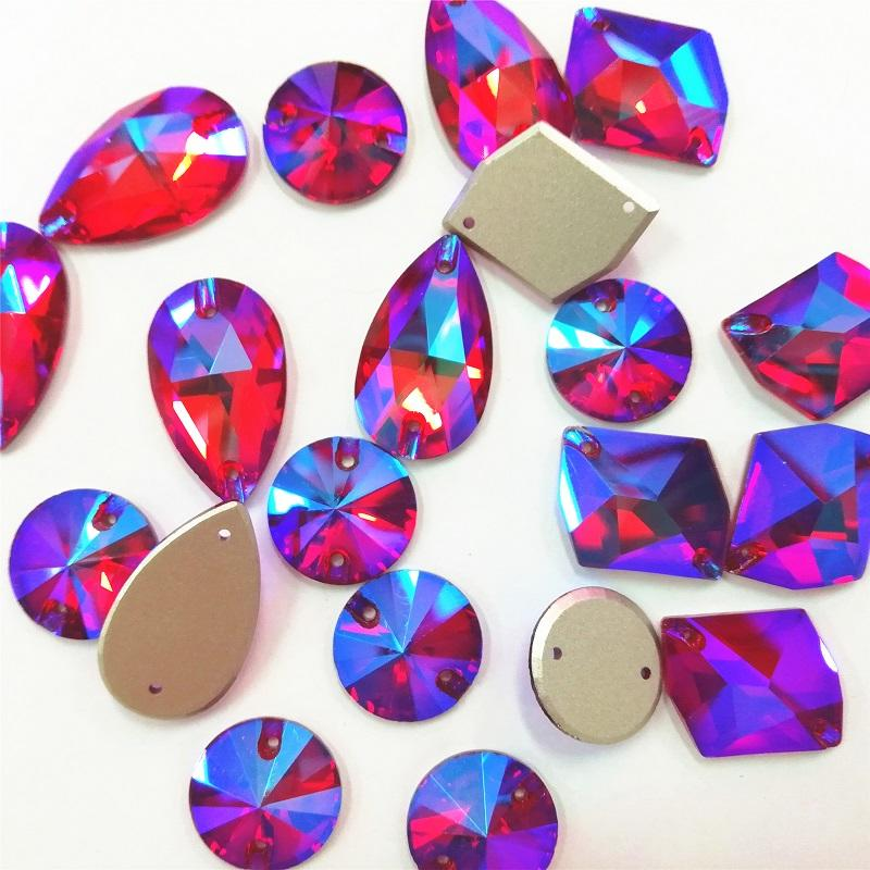 superior shiny decoration sewing glass beads wholesale for jewelry decoration ,tear drop shape beads