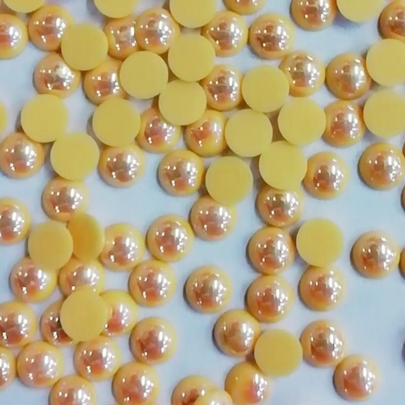 wholesale pearl round flat back , hot fix epoxy resin for wedding dress