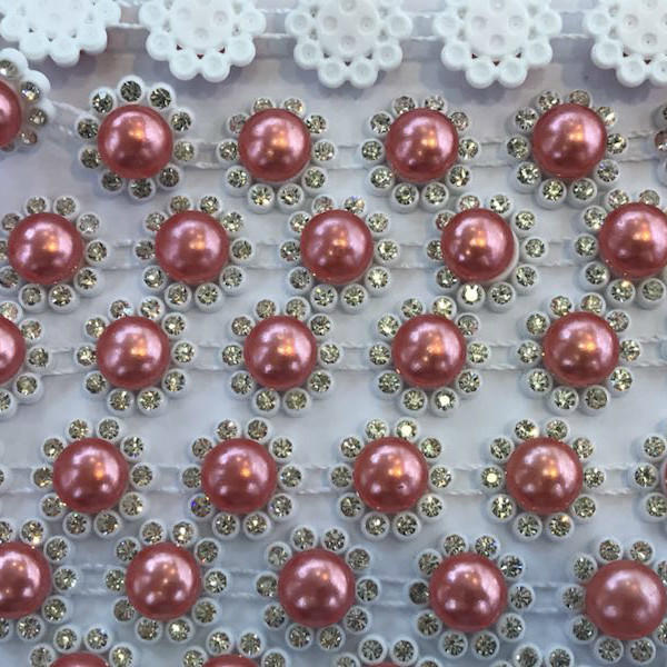 JP STRASS plastic rhinestones mesh for the wedding dress decorative