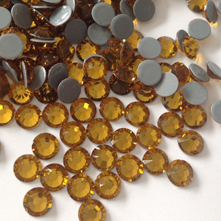 JP popular fashionable strong glue flat back hot fix rhinestones for the ladies clothing item decorative