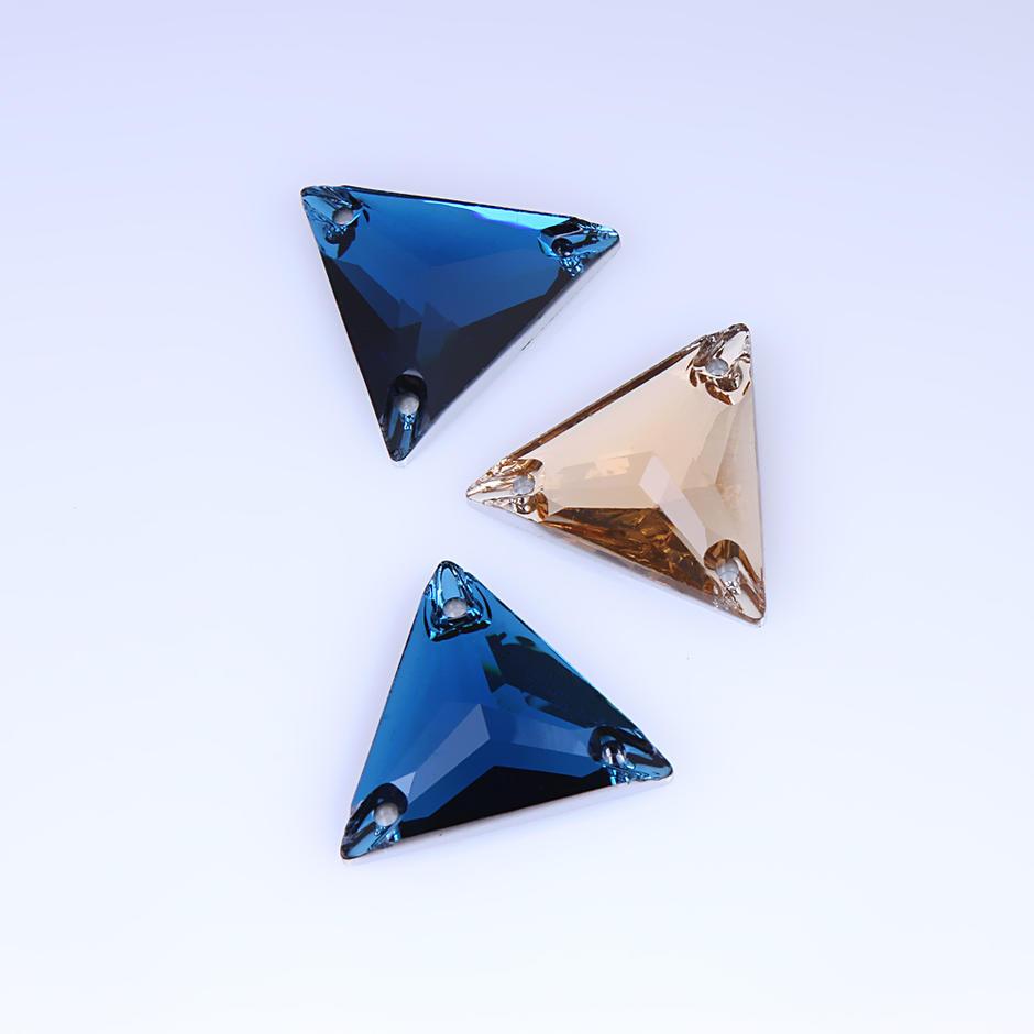 JP STRASS flat back glass rhinestones with holes