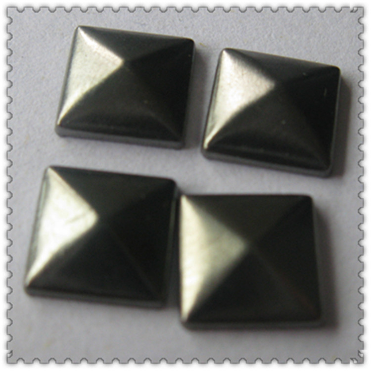 Jpstrass-Best Hot Fix Square Shape Copper Studs Gun Metal Color For Making-4