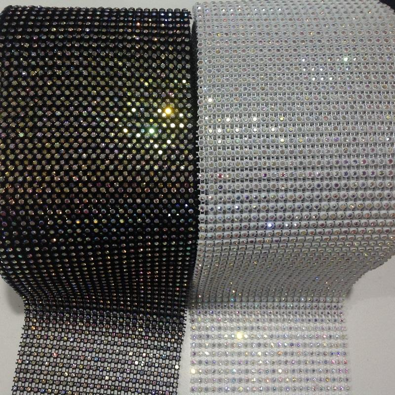 the most popular rhinestone mesh trimming wholesale supplier 10 yards each roll