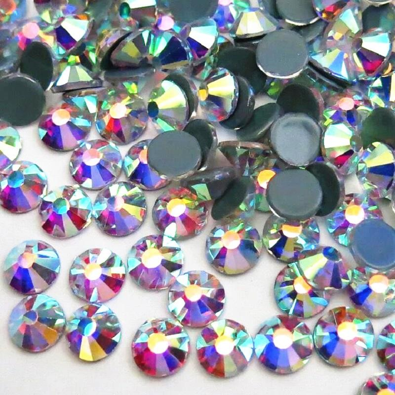 Korean quality hot fix glue rhinestone ab crystal shiny decoration for clothes