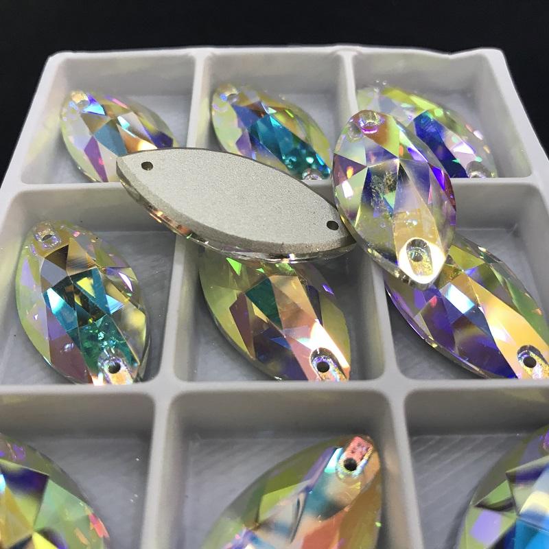 Jpstrass-K9 sewing glass beads ideal for wedding dresses supplier