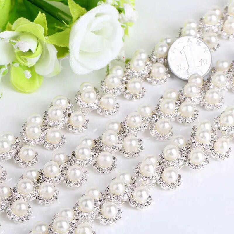 Jpstrass-The Most Shiny Attractive Pearls Plastic Rhinestone Trimming Wholesale-7