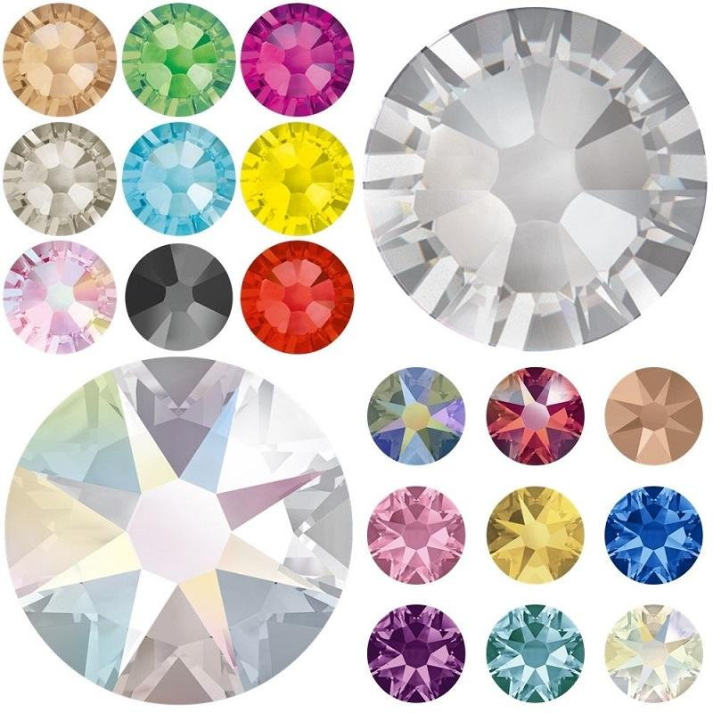 superior cutting hot fix crystals with good quality rhinestone from ss6 to ss30