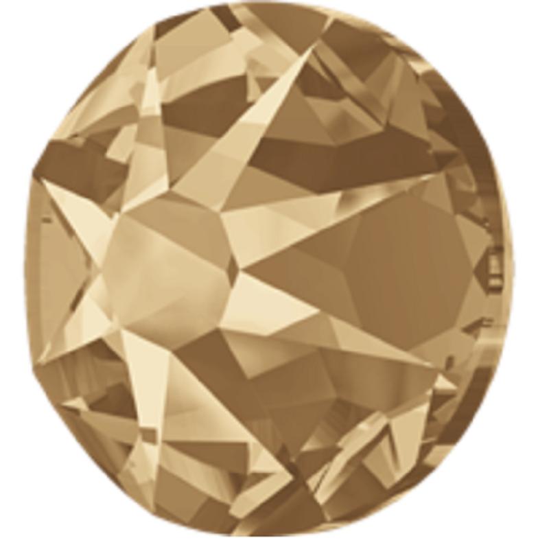 Crystal golden shadow JP Rhinestone hot fix flat back ss16 ss20 cutting 2088 16 cutting shiny decoration