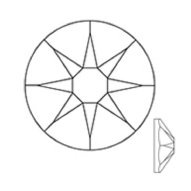 Jpstrass-Crystal Golden Shadow Jp Rhinestone Hot Fix Flat Back Ss16 Ss20 Cutting-3