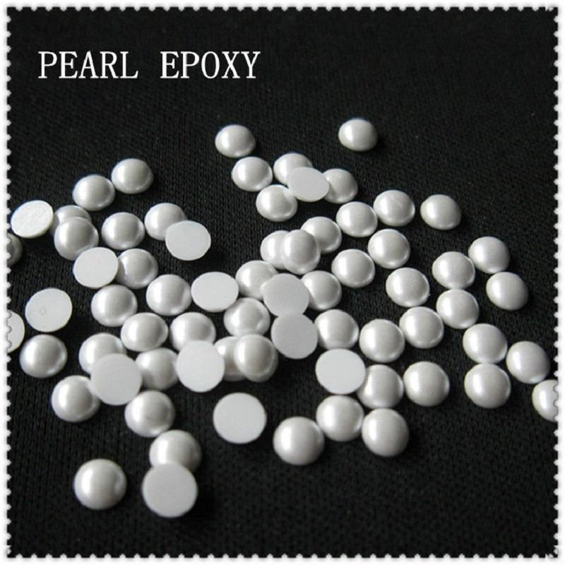 Colorful Shiny Loose Flat Back Hot -Fix Pearls Wholesaler Korean Lead Free Pearls Hotfix
