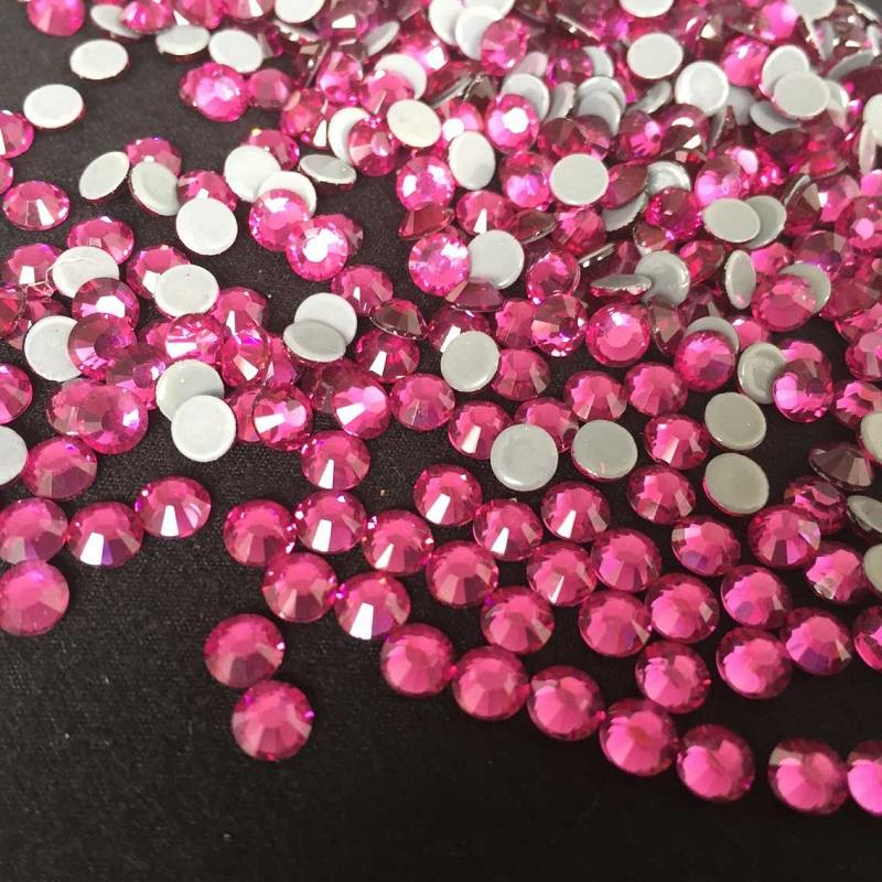 Shiny Low Lead Quality Rhinestones Rose Color Pass SGS Test Loose Flat Back Crystal From SS6 TO SS40