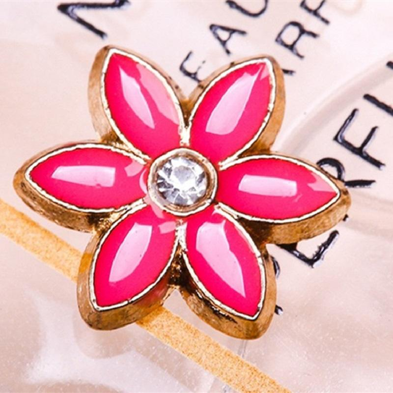 Pink Rose Red Dot Diamond Small Flower Alloy Hot Tablets Hot Drilling Hot Map Alloy Hot Sheet Copper