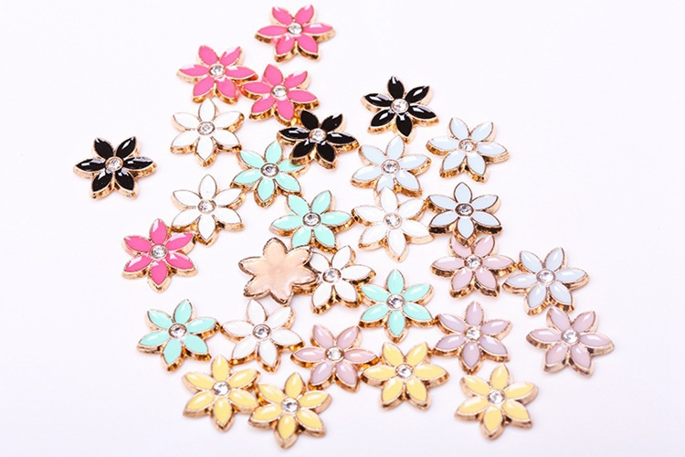 Jpstrass-Pink Rose Red Dot Diamond Small Flower Alloy Hot Tablets Wholesale Factory-7