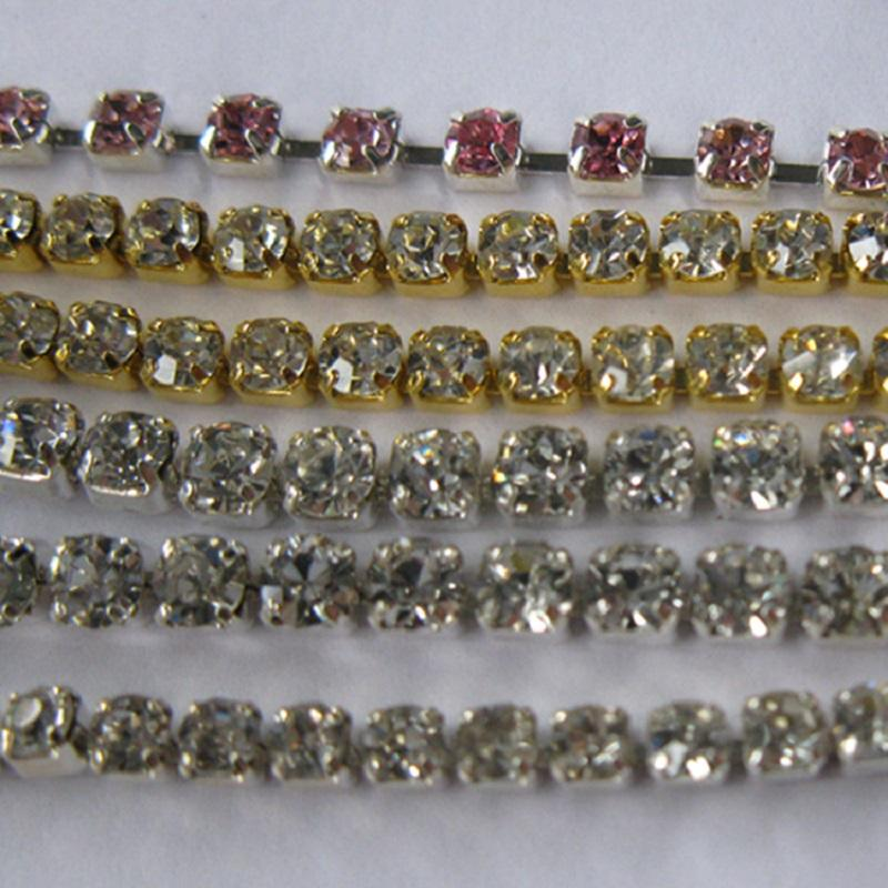 Fancy Cup Chain Rhinestone Trimming Different Styles Fashionable Designs For Costumes