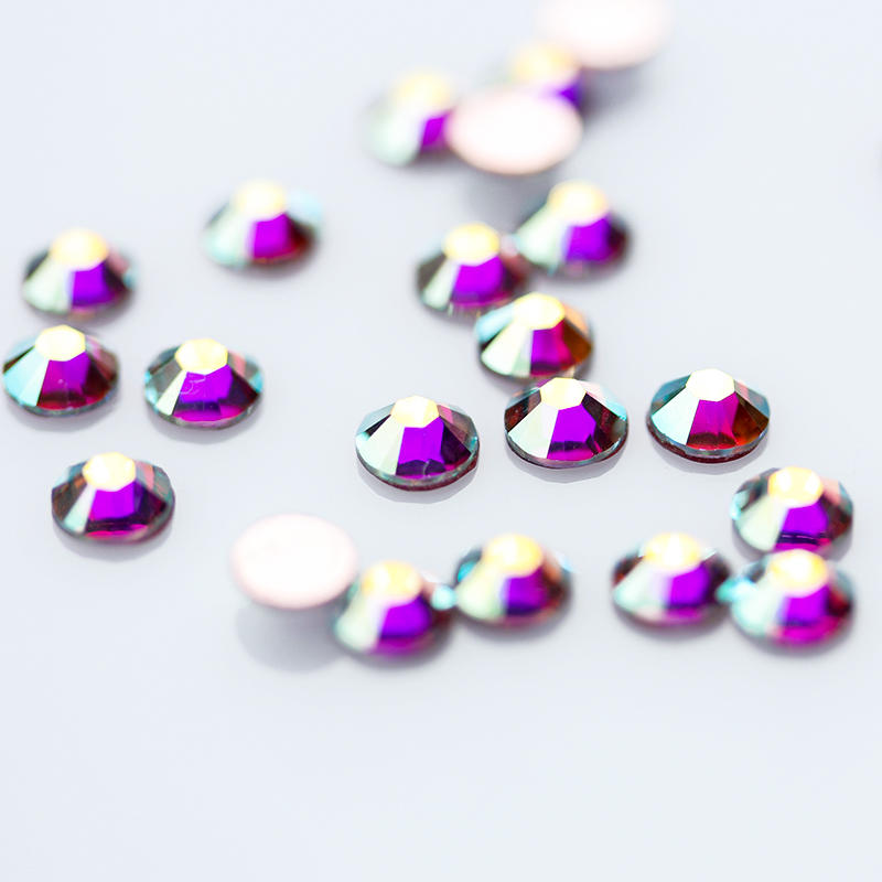 6a Korean Rhinestones Low Lead Ab Crystal Stones Flat Back Gems