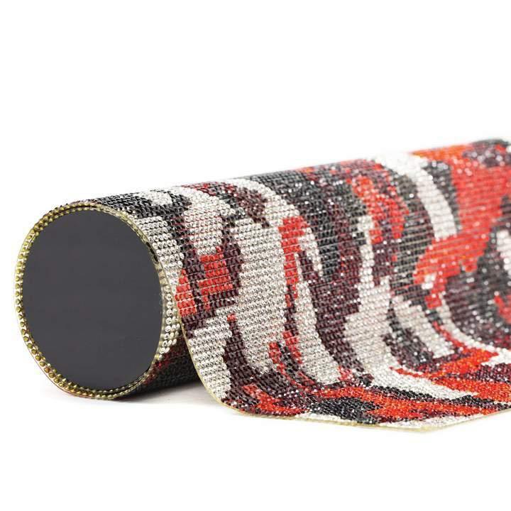 Wholesale colorful hot fix rhinestone self-adhesive trimming 24*40cm each sheet sizes
