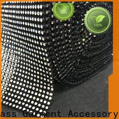 bulk buy 2mm rhinestone chain crystal factory price for bags