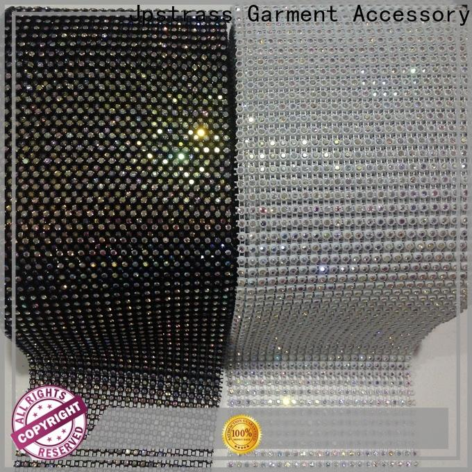 Jpstrass shiny rhinestone mesh roll manufacturer for online