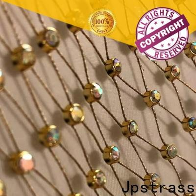 Jpstrass made rhinestone mesh ribbon series for ballroom