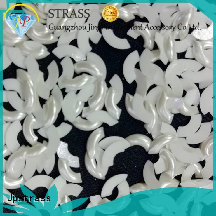 Jpstrass flat flat back pearl beads factory for shoes