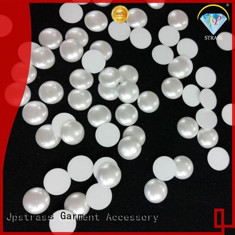 Jpstrass shiny plastic pearl beads garment for dress