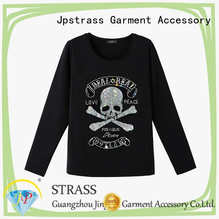 Jpstrass tshirts custom rhinestone transfers wholesale manufacturer for ballroom