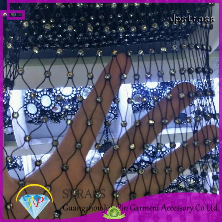 Jpstrass fancy diamond mesh wrap manufacturer for party