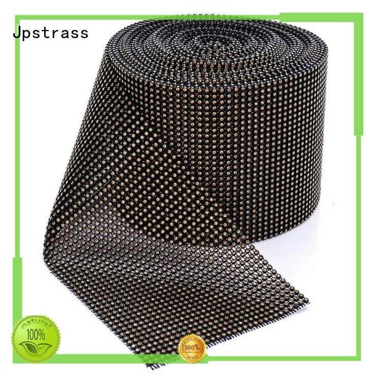 Jpstrass black gold rhinestone mesh supplier for online